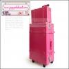 ยกเลิกการผลิต!!! กระเป๋าเดินทางวินเทจสไตล์เกาหลี ดีไซน์ออริจินัล 2 ล้อ คันชักด้านนอก สีชมพูเข้ม Hot Pink หนัง PU มี 3 ไซส์ 20, 22, 24 นิ้ว (Pre-order ราคาแต่ละรุ่นอยู่ด้านในนะคะ)
