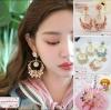 ต่างหูวินเทจสไตล์แบรนด์ Baroque Fashion Celebrity Vintage Rose Flower Dangle Earrings