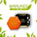warunee mix soap ขนาด 100 กรัม (ก้อนทรงหกเหลี่ยม)