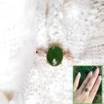 แหวนหัวหยก nephriteTian Biyu สีเขียวจักรพรรดิ์