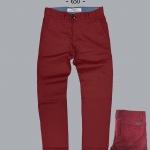 กางเกงขายาว - สีแดงเข้ม