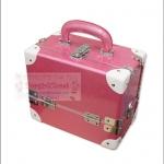 กระเป๋าเครื่องสำอางดีไซน์เมคอัพอาร์ทติสท์ Pearl Pink size S Make up Box Korea Style เคลือบมุกเมทัลลิคสวยมากค่ะ (Pre-order)