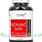 Core Konjac Z600 คอร์ คอนยัค [50 แคปซูล] ผงบุก และ อนุพันวิตามินซี ทำให้รู้สึกอิ่มเร็วรับประทานอาหารได้น้อยลง