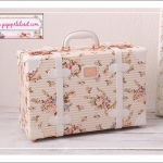 """กระเป๋าสะพายดีไซน์วินเทจ UNIWALKER """"Fresh Floral"""" Beautiful Floral for Summer 2017 Luggage&Suitcase Korean&Japanese Style หนัง PU High Quality มี 3 ไซส์ ได้แก่ ไซส์ 13"""", 16"""" และ 18"""" (Pre-order)"""