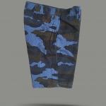 กางเกงขาสั้น - ลายพราง สีฟ้า