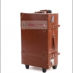 กระเป๋าเดินทางวินเทจสไตล์เกาหลี ดีไซน์ออริจินัล 2 ล้อ คันชักด้านนอก สีน้ำตาลเข้ม DARK BROWN หนัง PU มี 3 ไซส์ 20, 22, 24 นิ้ว (Pre-order ราคาแต่ละรุ่นอยู่ด้านในนะคะ)
