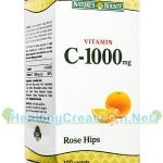 Nature's Bounty Vitamin C 1,000 mg. + Rose Hips เนเจอร์ส เบาวน์ตี้ วิตามินซี 1,000 mg. 100 เม็ด