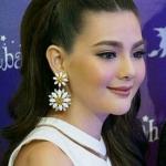 ต่างหูระย้าแฟชั่นสไตล์บาร็อค ดีไซน์แนวงานแบรนด์ big lady long strip crystal leaves long earrings metal baroque flower vintage Bold Fashion Earring