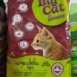อาหารแมว บิ๊กแคท(Big Cat) ซีฟู้ด 20 กิโลกรัม