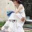 แม็กซี่เดรสสีขาวสไตล์พริ้นเซส เนื้อผ้าสีขาวแต่งลูกไม้ แขนเสื้อเป็นลูกไม้และระบาย 2 ชั้น ปรับแต่งการใส่ได้ 2 แบบ by Lady Ribbon