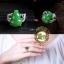 แหวนหัวหยก Tian Biyu สีเขียวจักรพรรดิ น้ำเต้าหยก น้ำทิพย์ ดูดทรัพย์