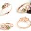 แหวนหัวหยกพม่าดีไซน์สวย 3 สี