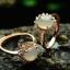 แหวนหัวหยก nephrite สีงาช้าง