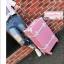 กระเป๋าเดินทางดีไซน์วินเทจสไตล์เกาหลี วินเทจอัพเกรด 4 ล้อ เบบี้พิงค์ไว้ท์ ฟอร์เลดี้ สีชมพูอ่อนคาดขาว หนัง PU มี 3 ไซส์ 20, 22, 24 นิ้ว (pre-order) *ราคาแต่ละไซส์อยู่ด้านในค่ะ