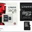 Micro SD Card Kingston 16 GB thumbnail 1