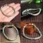 สร้อยข้อมือลูกปัดหยกพม่า ประดับเงินแท้ 925 ขนาด 5 mm.