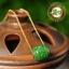 สร้อยคอ+จี้สลักหยก Nephirte สีเขียวจักรพรรดิ