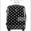 กระเป๋าเดินทางล้อลาก PC+ABS Polka dot Aircross Korea Style สีดำลายจุดขาว มี 2 ไซส์ 17 นิ้ว และ 21 นิ้ว ราคาสินค้าอยู่ด้านในนะคะ (Pre-order)