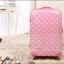 """กระเป๋าเดินทางล้อลากลายจุด PC+ABS Lovely Candy Polka dot Korea Style """"Pink"""" TSA Lock ล้อคู่+ขยายความกว้างด้านข้างได้ มี 3 ไซส์ คือ 20"""" 22"""" (Pre-order) และ 28""""(พร้อมส่ง) ราคาสินค้าด้านในนะคะ"""