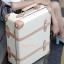 กระเป๋าเดินทางล้อลากดีไซน์วินเทจเรโทร Milky Cow Leather EDDAS European Style ไซส์ 20, 22, 24, 28 นิ้ว คลาสสิคออริจินัล 2 ล้อ (Made to Order) ราคาสินค้าด้านในค่ะ