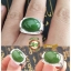 แหวนหยกHetian Green Jasper R0011