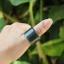 แหวนหยก nephrite Hetian สีนิล(เขียวขี้ม้าออกเทา)