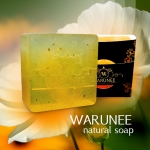 warunee natural soap ขนาด 50 กรัม (ก้อนทรงสี่เหลี่ยม)