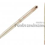 ปากกาแบรนด์เนมยี่ห้อ Parker ลูกลื่น ด้ามสลิม ซอนเนต 13 ซิลเวอร์ PGT Sonnet 13 Slim SLV PGT BP M BLK TB แท้