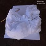 เศษผ้าขาวเนื้อรวม A4-A3