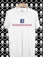 BP373 เสื้อยืด #DeleteFacebook #3