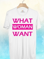 BP351 เสื้อยืด WHAT WOMAN WANT