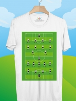 BP446 เสื้อยืด สนามฟุตบอลและแผนการเล่น