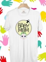 BP155 เสื้อยืด BABY in MOM #BOY
