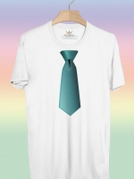 BP147 เสื้อยืด เนคไท #2