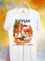 BP118 เสื้อยืด Retro City : Florida