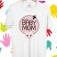 BP156 เสื้อยืด BABY in MOM #GIRL thumbnail 1