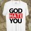 BP249 เสื้อยืด GOD HATE YOU thumbnail 1