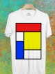 BP567 เสื้อยืด Mondrian