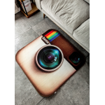 พรมปูพื้น Icon Instagram (ขนาด 80x80 ซม.)