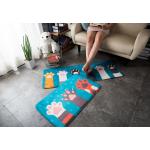 พรมลายเท้าแมวสีฟ้าสดใส (45x75 ซม.)