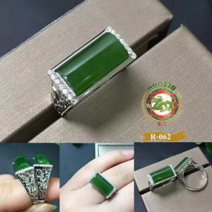 R0062แหวนหยก nephrite Hetian jasper