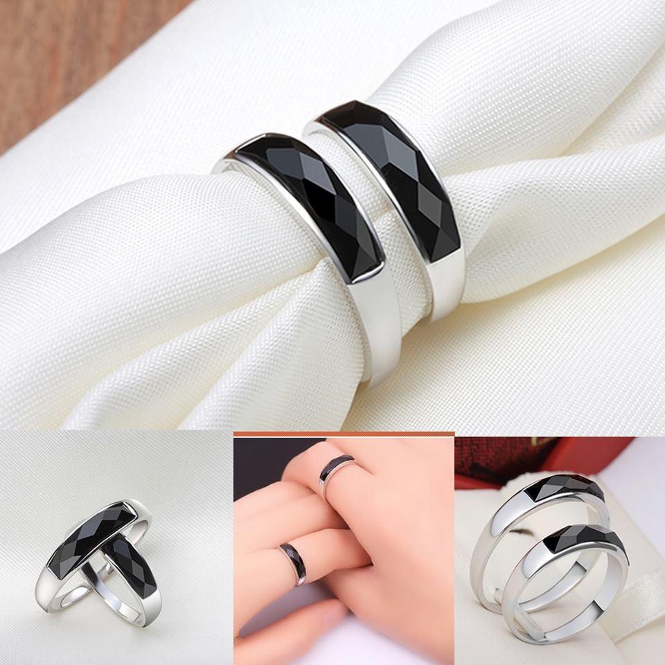 R0046-Lแหวนมณีนิล หน้ากว้าง 7 x 18 mm