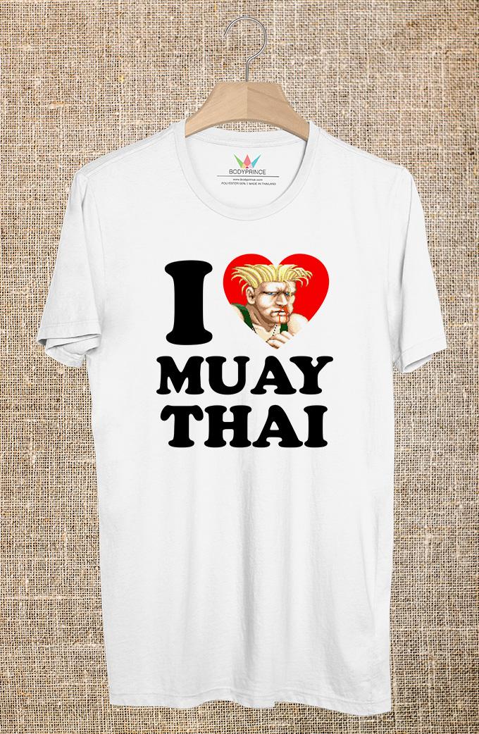 BP526 เสื้อยืด I LOVE MUAY THAI #4