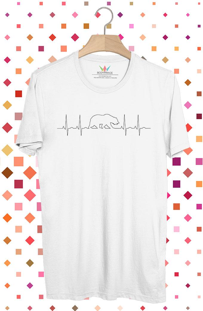 BP241 เสื้อยืด Bear Heartbeats
