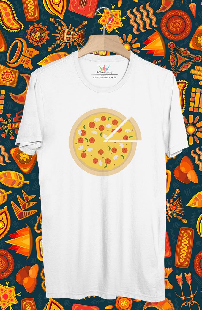 BP452 เสื้อยืด Pizza #2