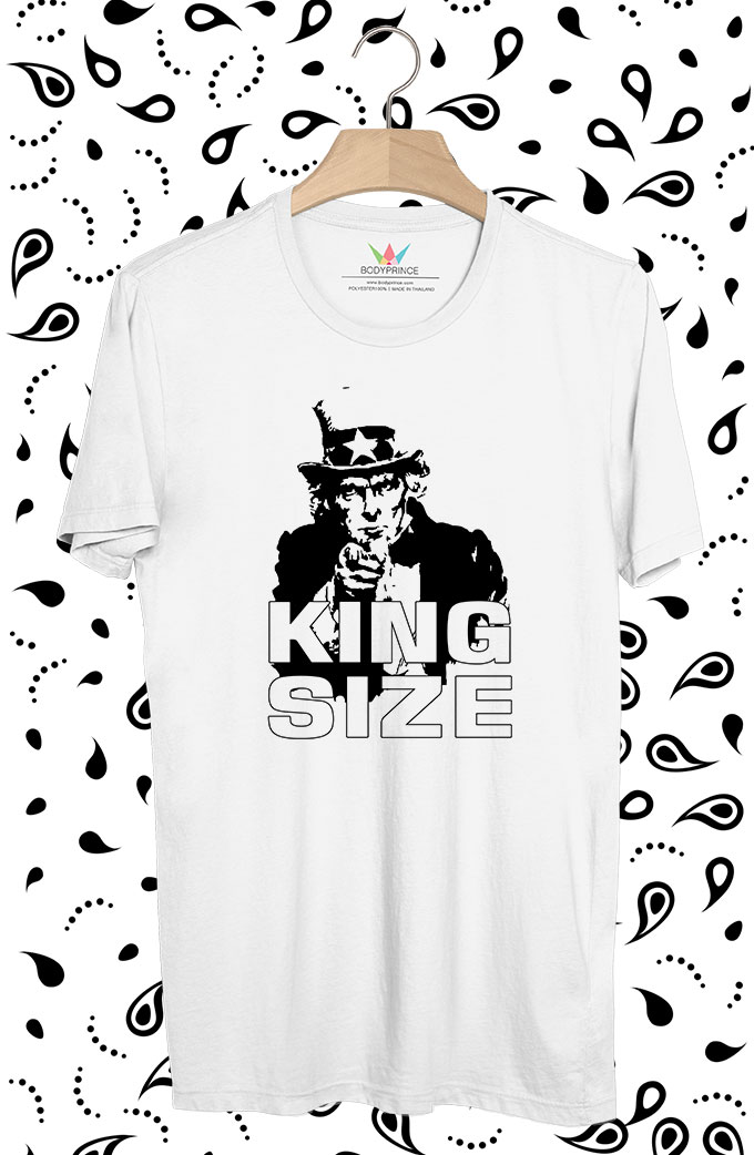 BP269 เสื้อยืด King Size of Uncle Sam