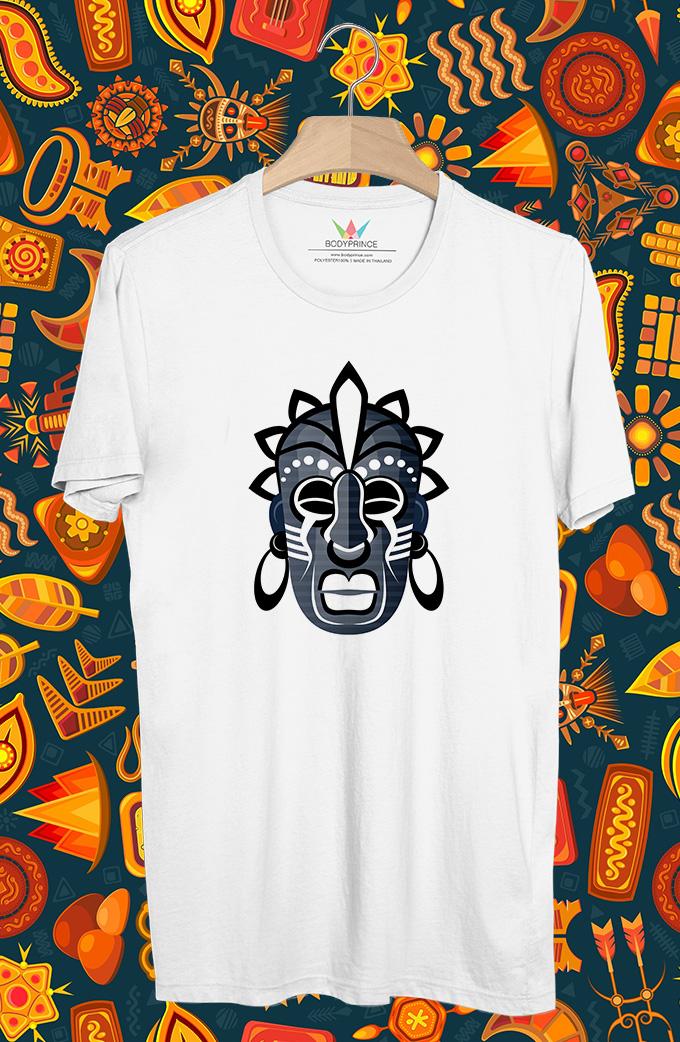 BP507 เสื้อยืด หน้ากากชนเผ่า #6