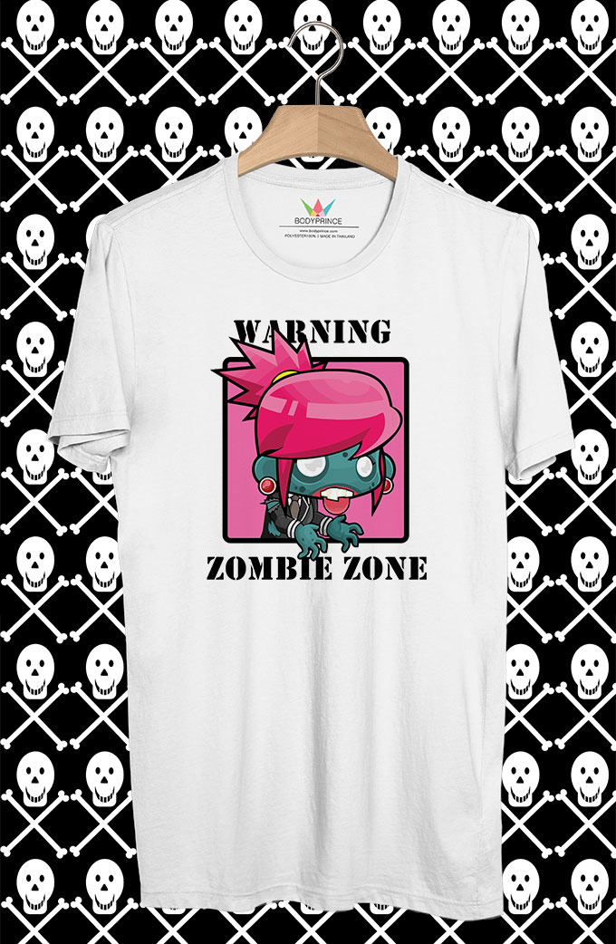 BP16 เสื้อยืด ZOMBIE GIRL