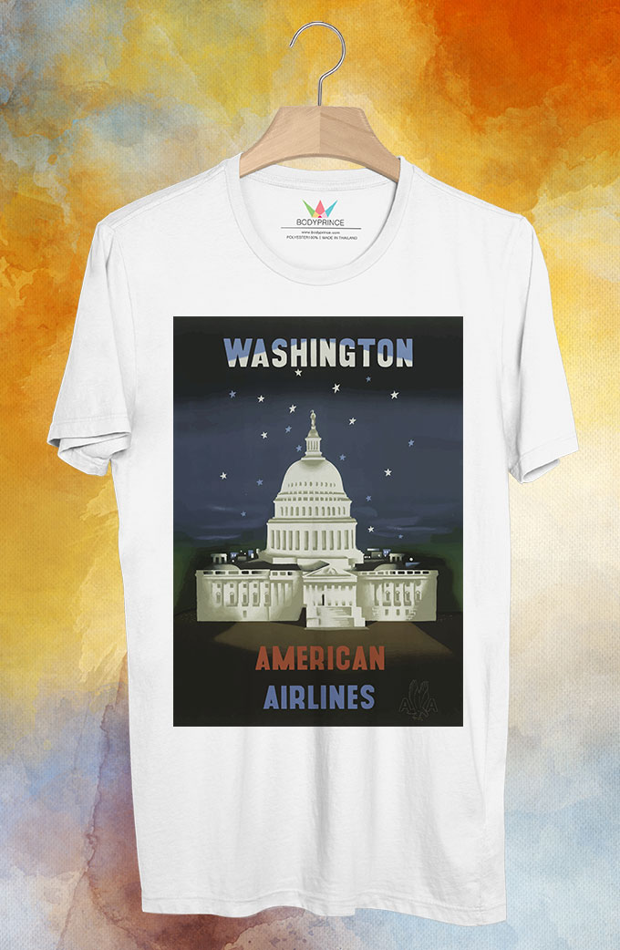 BP131 เสื้อยืด Retro City : Washington
