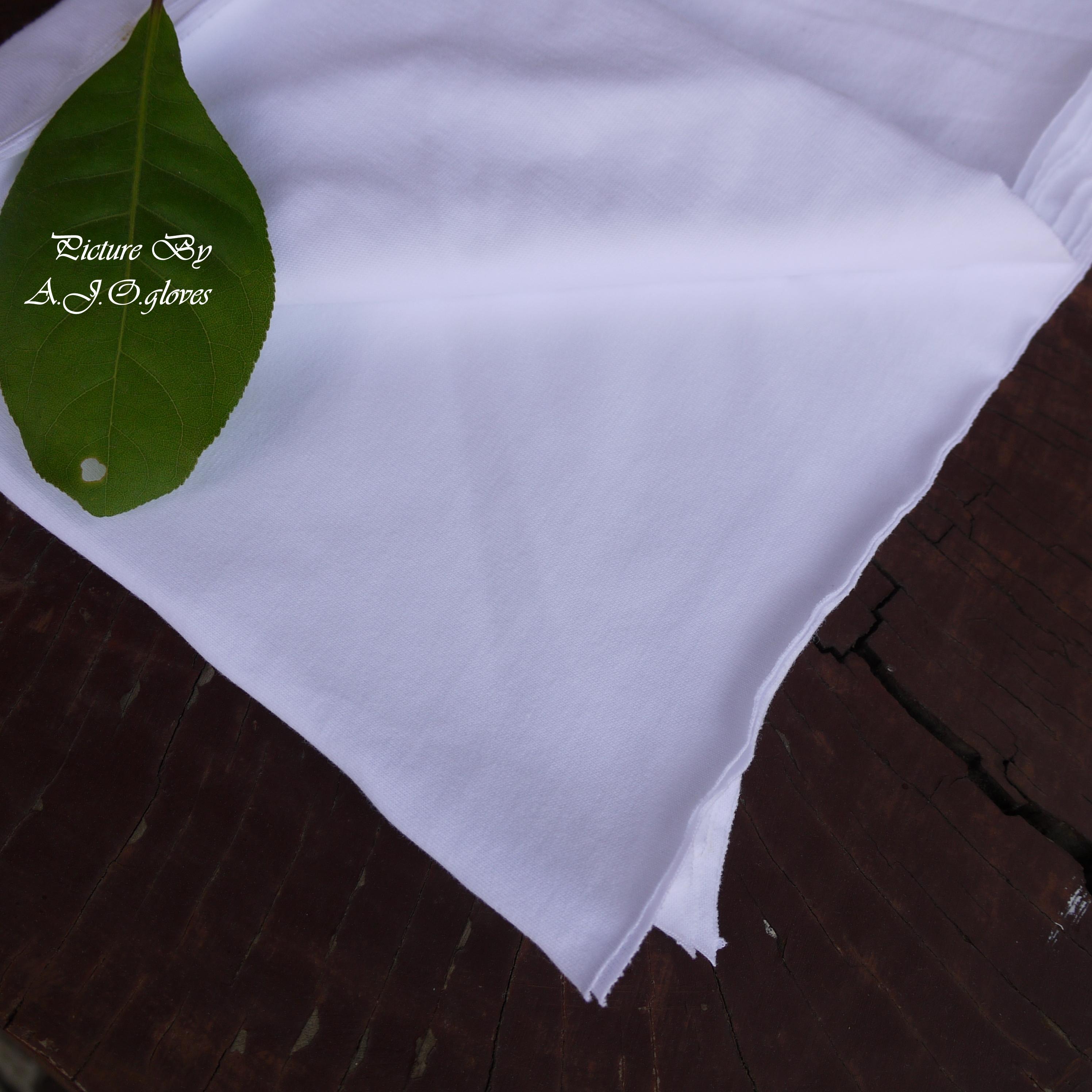 เศษผ้าขาว ขนาดA4-A3 เนื้อเรียบ